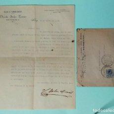 Cartas comerciales: CARTA COMERCIAL AÑO 1923 FABRICA DE ARTÍCULOS DE PIEL VICENTE SOLER TORMO ALCOY VALENCIA CON SOBRE. Lote 252939485