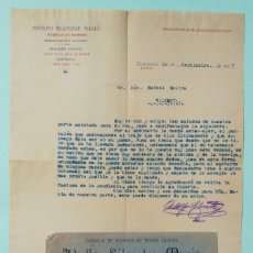 Cartas comerciales: CARTA COMERCIAL Y SOBRE ADOLFO SILVESTRE MASIÁ 1923 FABRICA DE BORRAS ONTENIENTE VALENCIA. Lote 253242260