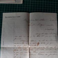 Cartas comerciales: 1903 ORENSE VALDEORRAS O MONFORTE CARTA COMERCIAL BELARMINO FELIZ Y COMPAÑIA. Lote 253671270