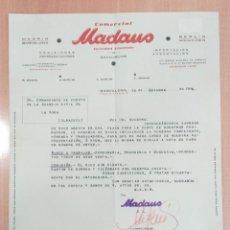Cartas comerciales: CARTA COMERCIAL, COMERCIAL MADAUS. BARCELONA, 1944. Lote 253811095