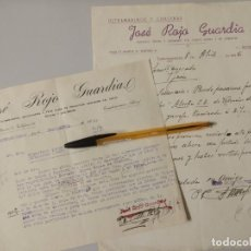 Lettres commerciales: JOSE ROJO GUARDIA, DERIVADOS DEL CERDO. TORREDONJIMENO JAEN 1941 Y 1946.. Lote 22248893