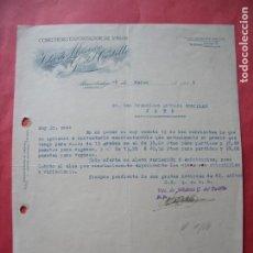Cartas comerciales: VIUDA DE MAXIMO G. DEL CASTILLO.-COSECHERO Y EXPORTADOR DE VINO.-CARTA COMERCIAL.-ALMENDRALEJO.-1946. Lote 257879345