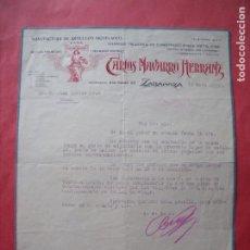 Cartas comerciales: CARLOS NAVARRO HERRANZ.-ARTICULOS NIQUELADOS.-METALES.-CARTA COMERCIAL.-ZARAGOZA.-AÑO 1935.. Lote 257882135