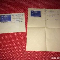 Cartas comerciales: H. MERIDIONAL - CORDOBA - TFNO 2725 - SOBRE Y CARTA - AÑOS 30. Lote 261999490
