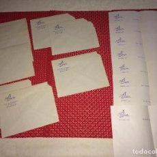 Cartas comerciales: HOTEL AVENIDA - AVDA. GENERALÍSIMO - MÁLAGA - LOTE 8 SOBRES Y 8 CARTAS - AÑOS 40. Lote 262004865