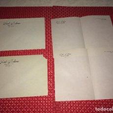 Cartas comerciales: HOTEL MODERNO - OVIEDO ( ASTURIAS ) - LOTE DE 2 SOBRES Y 2 CARTAS - AÑOS 30. Lote 262005675