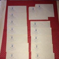 Cartas comerciales: HOTEL RESTAURANTE VICTORIANO - CALLE NAVAS - GRANADA - LOTE DE 14 SOBRES - AÑOS 40. Lote 262024215