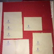 Cartas comerciales: HOTEL RESTAURANTE VICTORIANO - CALLE NAVAS - GRANADA - LOTE DE 7 SOBRES Y 1 CARTA - AÑOS 40. Lote 262024405