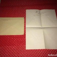 Cartas comerciales: H. COMERCIO - CELANOVA ( ORENSE ) - TELEFONO 33 - SOBRE Y CARTA - AÑOS 30-40. Lote 262024680