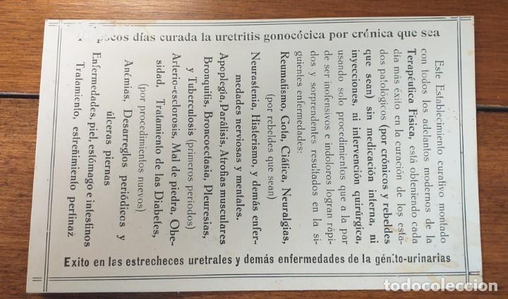 Cartas comerciales: Tarjeta publicitaria, INSTITUTO FISIOTERAPEUTICO, Riera Vaquer, Barcelona - Foto 2 - 262054230