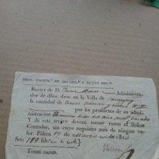 Cartas comerciales: RECIVI DERECHOS DE AGUARDIENTE 17 MARZO1814 (436-4). Lote 262238715