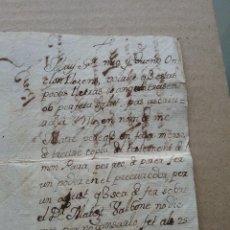 Cartas comerciales: MANUSCRITO. CARTA. 25 MARX 1786 (436-1). Lote 262239475