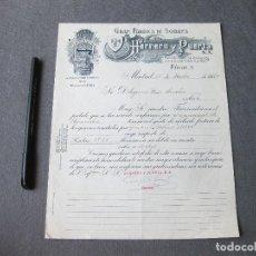 Cartas comerciales: FACTURA DE LA GRAN FÁBRICA DE DE SOBRES HERRERO Y PUERTA. MADRID 1932. Lote 262949080