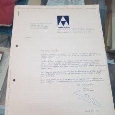 Cartas comerciales: PUBLICIDAD ANTIGUA MOLINO COLOIDAL INDUSTRIAL OMICE SA BARCELONA A PIMENTON FLORES BASTIDA MURCIA. Lote 263019675