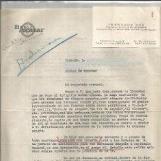 Cartas comerciais: CARTA FERNANDO ORS Y TARJETA.. REDACTOR DEL DIARIO ALCAZAR. Lote 263233040