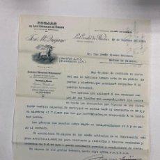 Cartas comerciais: CARTA COMERCIAL. JOSE Mª QUIJANO. FORJAS DE LOS CORRALES DE BUELNA. SANTANDER,1910. Lote 263556300