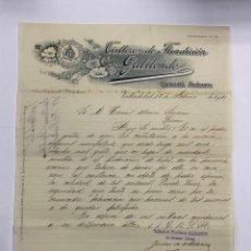 Cartas comerciales: CARTA COMERCIAL. TALLERES DE FUNDICION GABILONDO. COMPAÑIA ANONIMA. VALLADOLID, 1910. Lote 263557905