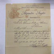 Cartas comerciales: CARTA COMERCIAL. ALEJANDRO ANGLÉS. EBANISTERIA. FABRICA DE SOMIERS METALICOS. VALLADOLID,1910. Lote 263558705