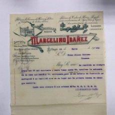 Cartas comerciales: CARTA COMERCIAL. MARCELINO IBAÑEZ. FABRICA DE CAMAS DE HIERRO Y LATON. BILBAO,1910. Lote 263562995