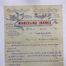Cartas comerciales: CARTA COMERCIAL. MARCELINO IBAÑEZ. FABRICA DE CAMAS DE HIERRO Y LATON. BILBAO,1914. Lote 263564640