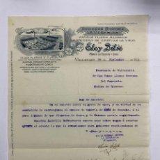 Cartas comerciales: CARTA COMERCIAL. ELOY SILIO. FABRICA DE TEJERIA Y GRES. VALLADOLID, 1912. Lote 263619335