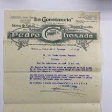 Cartas comerciales: CARTA COMERCIAL. PEDRO GLOSADA. LA CONSTANCIA. FABRICA DE CAMAS METALICAS.MEDINA DEL CAMPO,1929. Lote 263620085