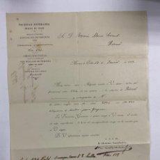 Cartas comerciales: CARTA COMERCIAL. SOCIEDAD ESPERANZA. EXPOSICION DE MINERIA. MINAS DE ORBÓ,1907. Lote 263620475