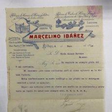 Cartas comerciales: CARTA COMERCIAL. MARCELINO IBAÑEZ. FABRICA DE CAMAS DE HIERRO Y LATON. BILBAO,1914. Lote 263620845