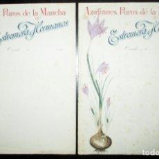 Cartas comerciais: AZAFRANES PUROS DE LA MANCHA. ESTREMERA HERMANOS, OVIEDO. 2 HOJAS DE PAPEL DE CARTAS.. Lote 267674859