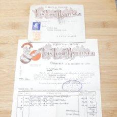 Cartas comerciales: CARTA COMERCIAL FACTURA, FABRICA DE CALZADO LUIS LLOR MARTINEZ ( ORIHUELA ) AÑOS 50.. Lote 269001124