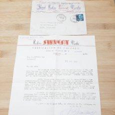 Cartas comerciales: CARTA COMERCIAL FACTURA, FABRICA DE CALZADO PEDRO SIRVENT VERDU, TORRENTE ( VALENCIA ) AÑOS 50.. Lote 269004594