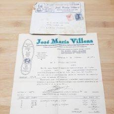 Cartas comerciales: CARTA COMERCIAL FACTURA, JOSE MARIA VILLENA MANUFACTURA DEL CALZADO, ADORNOS ( ZARAGOZA ) AÑOS 50.. Lote 269005054