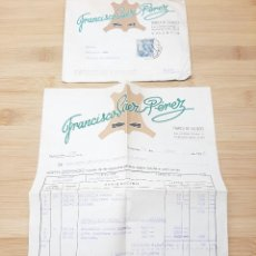 Cartas comerciales: CARTA COMERCIAL FACTURA, FABRICA DE CALZADO FRANCISCO SAEZ PEREZ ( VALENCIA ) AÑOS 50.. Lote 269005544