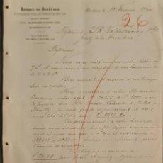 Cartas comerciales: BANQUE DE BORDEAUX. ANCIENNE MAISON SOULA, DE TRINCAUD LA TOUR & CÍE. BORDEAUX. FRANCIA 1900. Lote 269166078