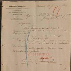Cartas comerciales: BANQUE DE BORDEAUX. ANCIENNE MAISON SOULA, DE TRINCAUD LA TOUR & CÍE. BORDEAUX. FRANCIA 1900. Lote 269166348