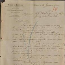 Cartas comerciales: BANQUE DE BORDEAUX. ANCIENNE MAISON SOULA, DE TRINCAUD LA TOUR & CÍE. BORDEAUX. FRANCIA 1900. Lote 269166393