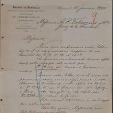Cartas comerciales: BANQUE DE BORDEAUX. ANCIENNE MAISON SOULA, DE TRINCAUD LA TOUR & CÍE. BORDEAUX. FRANCIA 1900. Lote 269167098
