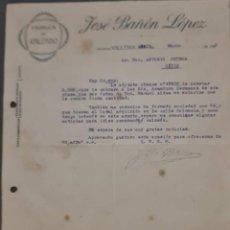 Cartas comerciales: JOSÉ BAÑÓN LÓPEZ. FÁBRICA DE CALZADO. VILLENA. ALICANTE. ESPAÑA 1921. Lote 269167463
