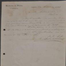 Cartas comerciales: BARBADO Y VIVES. FÁBRICA. ARANJUEZ. ESPAÑA 1921. Lote 269167588
