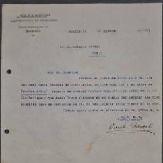 Cartas comerciales: GABARBIS. MANUFACTURA DE CELULOIDE. MADRID. ESPAÑA 1921. Lote 269167678