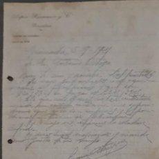 Cartas comerciales: LÓPEZ HERMANOS Y COMPª. ALMACÉN DE CURTIDOS. PAMPLONA. ESPAÑA 1921. Lote 269168428