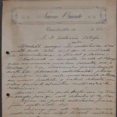 Cartas comerciales: NUEVO ORIENTE. . GRANADA. ESPAÑA 1921. Lote 269168503