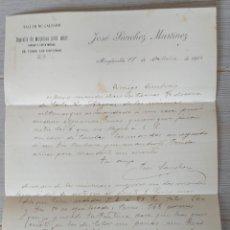 Cartas comerciales: ANTIGUA CARTA DE JOSÉ SÁNCHEZ MARTÍNEZ - TELEGRAMA - TALLE DE CALZADO MINGLANILLA - AÑO 1906 - DEPÓS. Lote 269240873