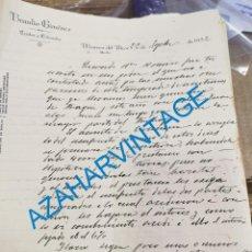 Lettres commerciales: MAIRENA DEL ALCOR, SEVILLA, 1932, CARTA COMERCIAL, BRAULIO GIMENEZ, COLONIALES. Lote 269293878