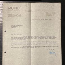 Cartas comerciais: CARTA COMERCIAL. MONES JOYEROS. BARCELONA AÑO 1963.. Lote 269297453
