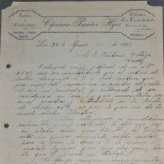 Cartas comerciais: CIPRIANO PUENTE E HIJOS. TEJIDOS Y CONFECCIONES. CALZADOS LA CASUALIDAD. LEÓN. ESPAÑA 1921. Lote 269323653