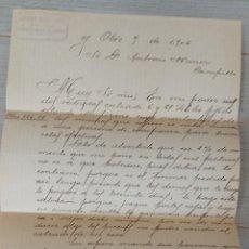 Cartas comerciales: ANTIGUA CARTA COMERCIAL DE JOAQUIN SENSERRICH DE BUENACHE DE ALARCÓN - TELEGRAMA - AÑO 1906 - EN BUE. Lote 269341273