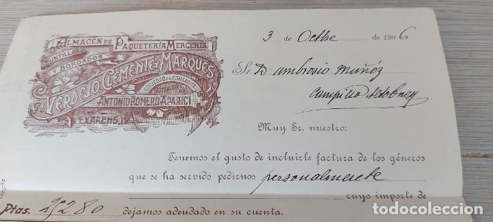 Cartas comerciales: CARTA COMERCIAL DE VERDEJO CLEMENTE Y MARQUES - SOCIEDAD EN COMANDITA - SUCESORES DE ANTONIO ROMERO - Foto 3 - 269577348