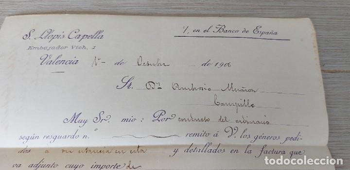 Cartas comerciales: ANTIGUA CARTA COMERCIAL DE S. LLOPIS CAPELLA - TELEGRAMA - AÑO 1906 - TAMAÑO ALGO INFERIOR A A4 - EN - Foto 2 - 269578348