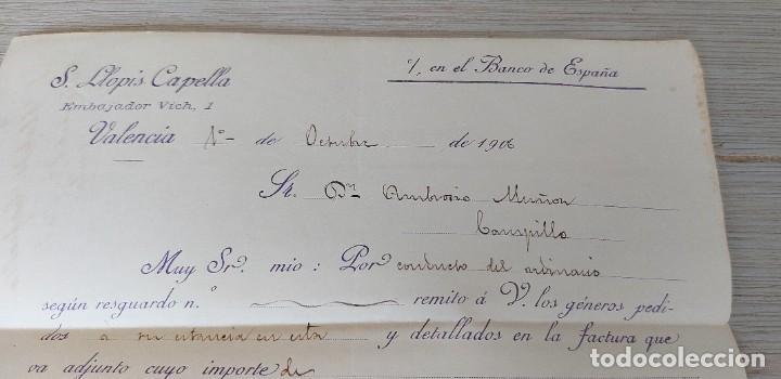 Cartas comerciales: ANTIGUA CARTA COMERCIAL DE S. LLOPIS CAPELLA - TELEGRAMA - AÑO 1906 - TAMAÑO ALGO INFERIOR A A4 - EN - Foto 3 - 269578348